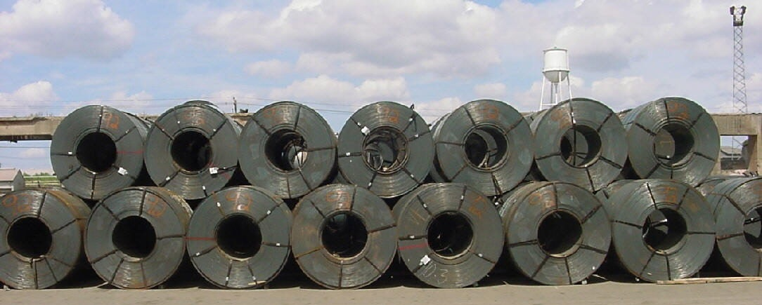 hot rolled coils commercial quality strapped for break bulk shipment