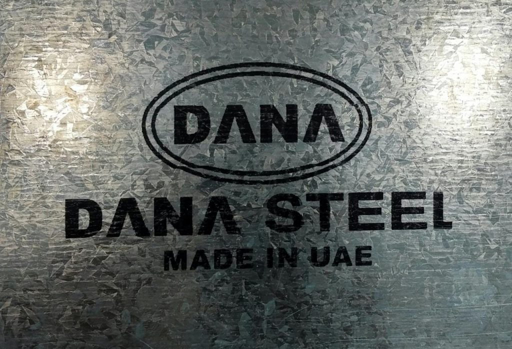 regular spangle bright and shiny surface manufactured gi coils sheets by DANA STEEL