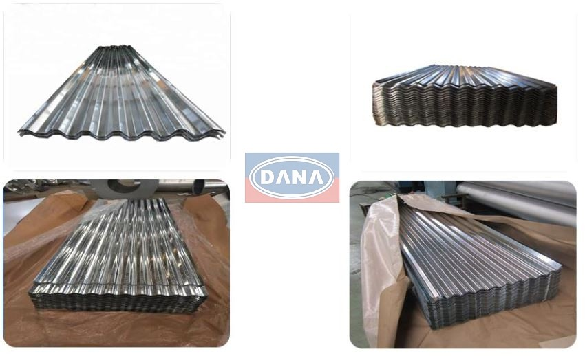 wave corrugated profile gi steel sheets