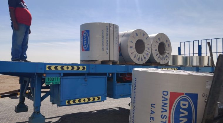 DANA pre-painted Aluminium coils are supplied to many countries
