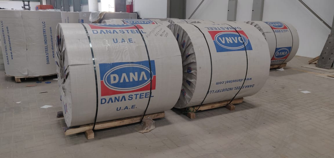Popular galvanized steel grade ASTM A653 is produced and supplied in large quantities from DANA