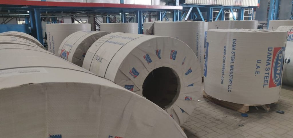 prepainted aluminum prepainted galvanized steel coils in dana steel uae