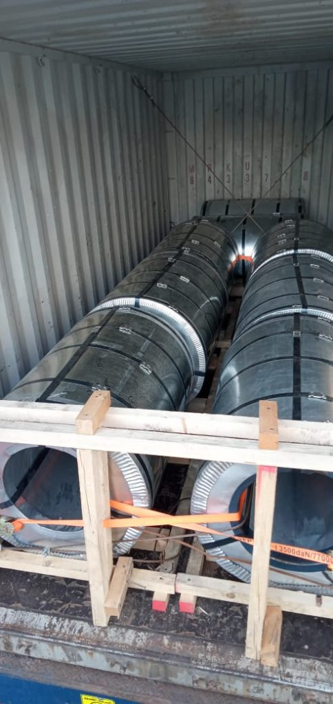 gi coil export container packing steel ppal ppgi coil