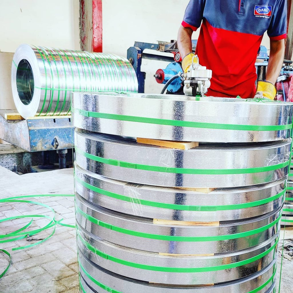 Slitting of Hot Dip Galvanized (GI) Steel Coils